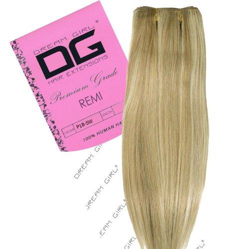 Dream Girl Remi Extensions de cheveux Couleur 18/Blanche-Neige 35 cm