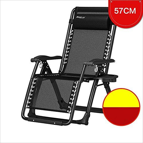 Chaises pliantes Xiaolin Balcon Recliner Chaise Paresseux Maison Femmes Enceintes Chaise Déjeuner Pause Chaise (Couleur : Gold Steel Black)