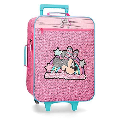 Disney Minnie Pink Vibes Maleta de cabina Rosa 35x50x16 cms Blanda Poliéster 25L 1,8Kgs 2 Ruedas Equipaje de Mano