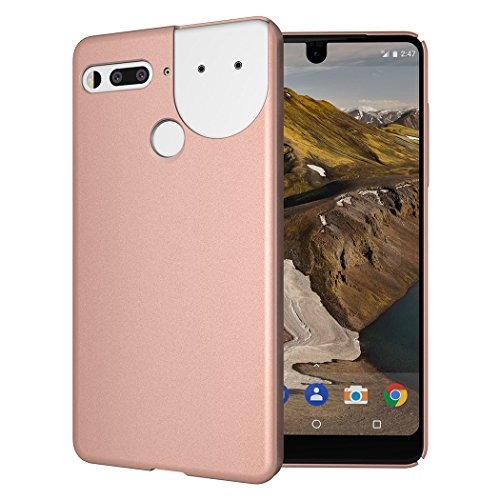 Essential Phone PH-1 Case, TUDIA Low Profile Design [LULA 2.0] [Improved Version] Polycarbonate Snap On Back Protective Cover for Essential Phone PH-1 (Compatible with 360 Camera) (Rose Gold)