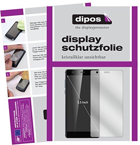 dipos I 2X Schutzfolie klar kompatibel mit Oukitel U13 Folie Bildschirmschutzfolie