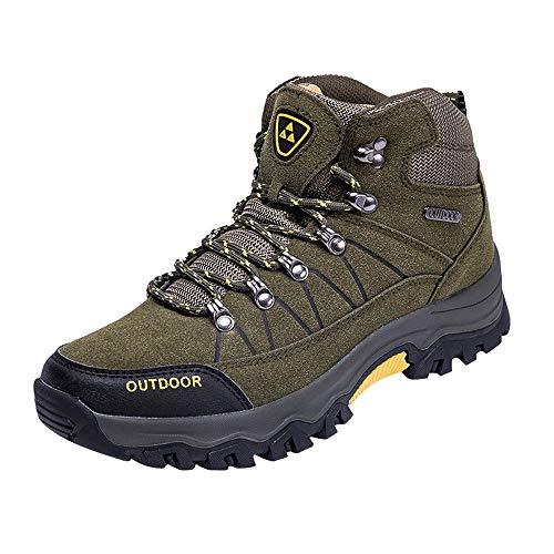 Chaussures de randonnée Homme Chaussures de Plein air pour Hommes Chaussures de Course à Pied Confortables à Lacets Confortables BaZhaHei