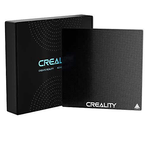 Authentic Creality CR-10S Pro, CR-X, CR-10 V2 and Ender-3 Max Tempered Glass Bed Build Plate 310mmx320mmx4mm Printing Surface with Advanced Adhesion Technology and Tool-Less Removal