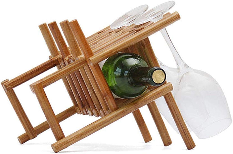 Red Wine Shelf Solid Wood Wine Rack Wine Rack Art Rattan Wine Display Stand Household Wine Glass Rack