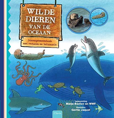 Wilde dieren van de oceaan: dierenprentenboek met verhalen en informatie