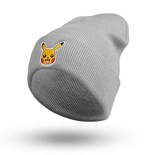 ZSNB Mode Herbst Winter Frauen Und Männer Cartoon Mützen Pokemon Pikachu Strickmütze