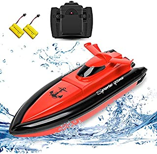 STOTOY Boat Remote Control Boat for Kids/Adults ,High Speed Electronic RC Racing Boat for Pools and Lakes- Red