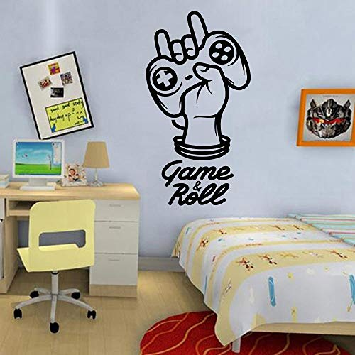 AGjDF Spielerphrase Wandtattoo Aufkleber Game Controller Wählen Sie Ihr Videospiel Wandtattoo Vinyl Kinderzimmer Dekoration Tapete57x31cm