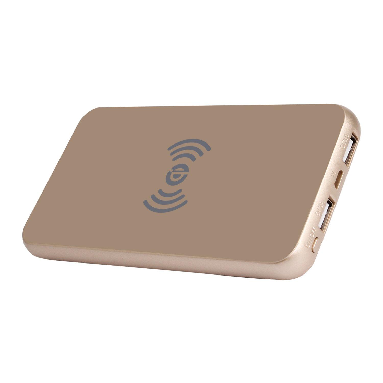 Fast Wireless Charger Power Bank 8000 mAh recargable Pack Qi Wireless Pad de carga para Samsung y otros dispositivos qi-enable: Amazon.es: Electrónica