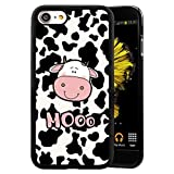 iPhone 7 8 Case,Flexible Soft TPU Cover Shell,Slim Silicone Black Rubber Non-Slip Durable Design Protective Phone Case for iPhone 7 8 -Cartoon Cow