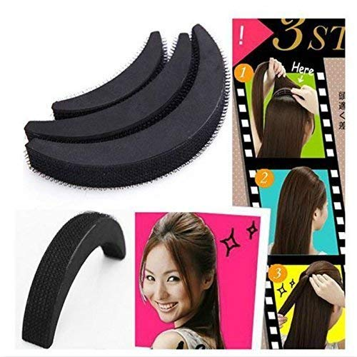 Clarashop Haarvolumen Einsatz DIY Haar Bumpit Volumen Bienenstock Haar Bump Pad Haar Haight Werkzeuge 1 Satz / 3 stücke Schwarz