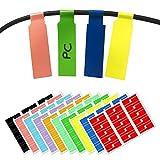 10 Colores, 300 Piezas, Etiqueta del Cable Adhesivas Pegatinas, A4, Impresoras Laser, Impermeable Resistente al Desgarro -