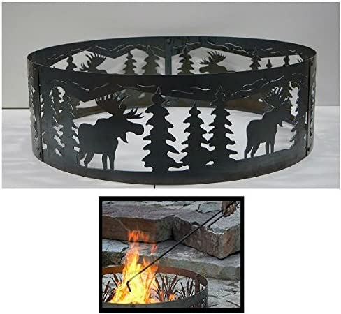 PD Metals Steel Campfire Fire Ring Design Unpainted Brand new with price F Moose