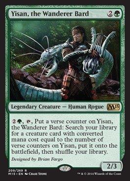 Magic The Gathering - Yisan, The Wanderer Bard (209/269) - Magic 2015