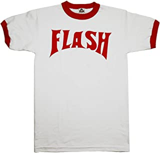 Flash Gordon Flash Bolt Ringer Adult White T-Shirt