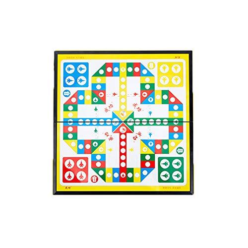 longsing Juego de Mesa Juego de ajedrez Volador Ajedrez Familia Familia Junta de Juego Flying Chess Board Placking Travel Magnetic Set Board Juego Juego de Juguetes Set para Chids