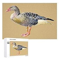 鳥のガチョウの水彩画 木製パズル大人の贈り物子供の誕生日プレゼント(50x75cm)1000ピースのパズル