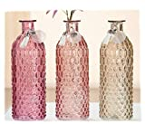 Cristal Halsvase Serie Pustola Sortierter Artículo 1 Búcaro en Rosa o Braun o Morado