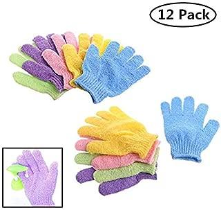 12 Pair Wholesale Lot Double Side Durable Exfoliating Skin Spa Bath Scrubs Bathing Gloves Shower Soap Clean Hygeine