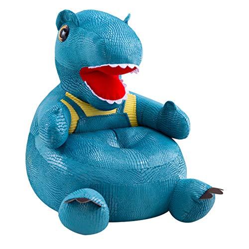 Gemütlicher Kinderstuhl Nettes Cartoon-Form-Kinder-Dinosauriersofa Leinenstoff gepolsterter Kleinkindsessel Leinenstoff gepolsterter Kleinkindsessel Möbel Spielzeug für Jungen und Mädchen Geschenk