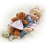 Muñecas Reborn para niños pequeños, muñecas realistas de 48 cm, 19 Pulgadas, Hechas a Mano, de Cuerpo Completo, Juguetes de baño realistas para bebés recién Nacidos, Boca magnética