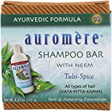 Auromere Ayurvedic Shampoo Bar - Eco Friendly, Handmade, Vegan, Cruelty Free, Natural, Non GMO, All in One Bar for Soap and Shampoo (4.23 oz), 1 pack