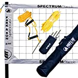 Park & Sun Sports Spectrum Classic Professional Portable Outdoor Tournament Sand Volleyball Net Set with Accessories, White