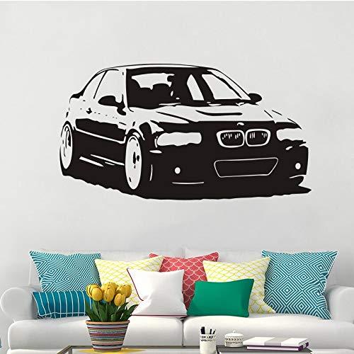 Serie pegatinas de pared de vinilo para coche es decoración de la sala de estar del hogar calcomanías de salón dormitorio arte cartel pegatinas de fondo A4 57X31cm