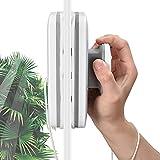 Crtkoiwa Limpia Cristales Magnetico, Limpiador De Vidrio MagnéTico De Doble Cara para Ventanas De 3-20 mm, Equipado con Una Cuerda De Seguridad De 2,5 M, Adecuada para Vidrio Monocapa