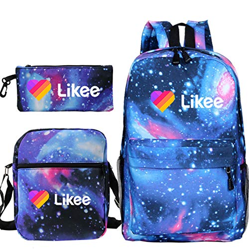 Likee Live Backpack Boys Girls Boys School Bags 3 pcs/Sets Student Backpack Travel Children School Backpack LIKEE Bags 18 Only Backpack