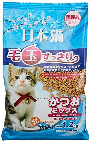 イースター キャットフード 日本猫 毛玉すっきり かつおミックス 1.2kg