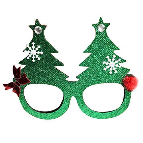 Gafas de Nykkola con forma de cuernos, copos de nieve, árbol de Navidad, para niños y adultos
