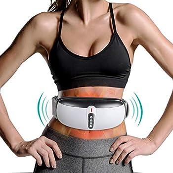 rilassa Wireless Slimming Belt Abdominal Massager Portable Weight Loss Machine with 4 Vibration Massage Modes Heating Improve Blood Flow for Women Men