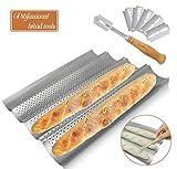 Best Baguette Pans - Walfos Baguette Pan Set-Food Grade Nonstick Coating Perforated Review