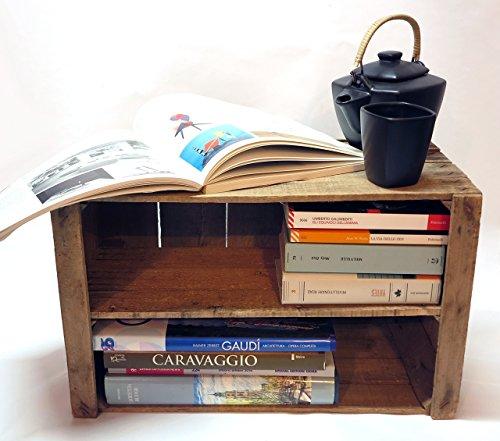Cassetta di legno con mensola,porta bottiglie,porta riviste, porta oggetti // vintage //...
