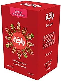 شاي بالاعشاب مع ثمر الورد والخوخ من باجة، 125 غرام، عبوة عدد 1