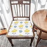 Cojín de asiento de espuma viscoelástica, plantas lindas en un blanco, tela duradera, cojín cuadrado universal, cubierta de silla para decoración del hogar