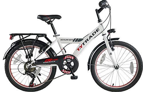20 Zoll Kinder City Mädchen Jungen Fahrrad Bike Rad Kinderfahrrad Citybike Cityfahrrad Cityrad Dynamic 7 Shimano Gang Weiss TYT19-039