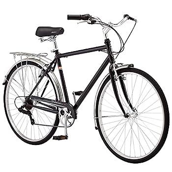 Schwinn Wayfarer Adult Bike Hybrid Retro-Styled Crusier 18-Inch/Medium Steel Step-Over Frame 7-Speed Drivetrain Rear Rack 700C Wheels Black