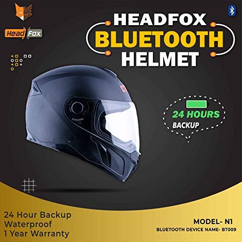 Headfox EVO Smart BLUETOOTH N1 Motorbike HELMET (BLACK)