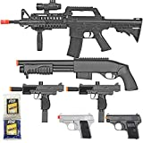 BBTac Airsoft Gun Package - Black Ops - Collection of Airsoft Guns - Powerful...