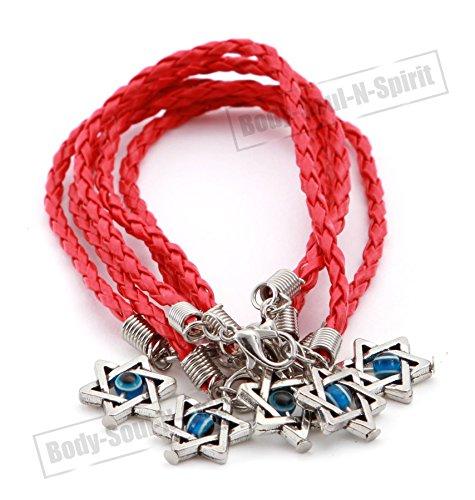 5 Heilige Rode String Lucky Charm Armband Ster van David Hanger karma Joodse Sieraden
