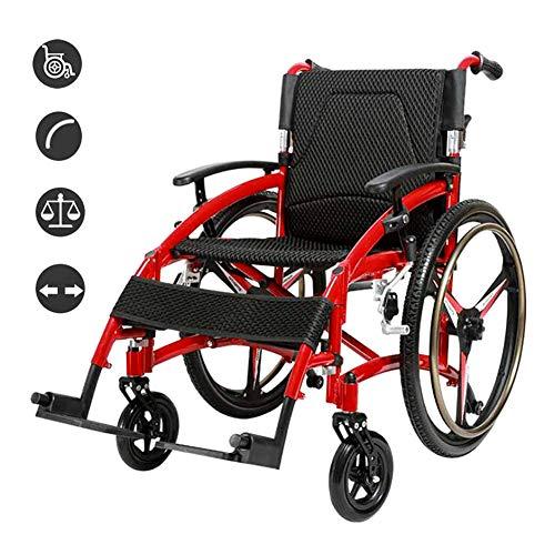 WHYTT Rollstuhl Faltbar Leichter Rollstuhl mit Steckachsen Trommelbremse, Medical Transportrollstuhl Produktgröße 84CM * 33CM * 74CM Nettogewicht 15kg