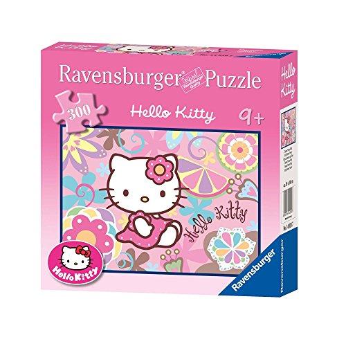 Ravensburger 14010 - Hola Kitty Kitty Flower Power - 300 del Pedazo del Rompecabezas