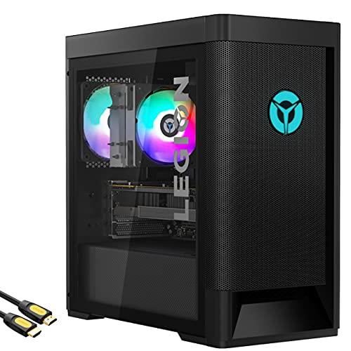 Mytrix Legion Tower 5 by_Lenovo Gaming Desktop, AMD Ryzen 7 3700X, Radeon RX 570, 16GB RAM, 512GB PCIe SSD+1TB HDD, USB-C, Wi-Fi 6, HDMI/DP/DVI, Mytrix HDMI Cable, Win10 w/KB and Mouse