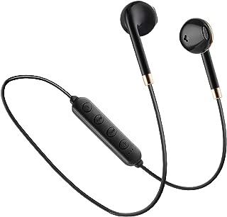 Bluetoothイヤホン ワイヤレススポーツイヤホン マグネット搭載 マイク付き 防汗防滴インナーイヤー型 開放型 ブルートゥースイヤホン lphoneXS/XR/X lphone8/8plus lphone7/plus, Androidなど対応 ブラック