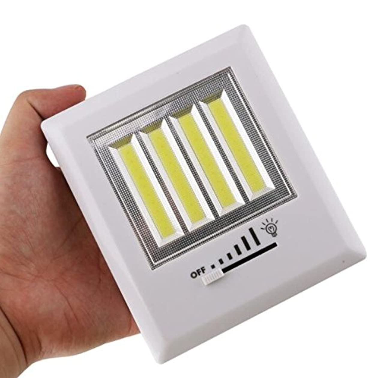一般的に言えばも六分儀1stモール ディマー LED ライト 調光可能 COB型 ワンタッチ どこでも 簡単設置 3WAY スイッチ 一体型 照明 マグネット付 ST-DIMMER