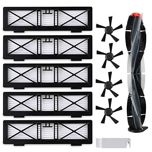 FHzytg Zubehör-Sets für Neato Botvac Roboterstaubsauger D-Serie D3 D5 D75 D80 D85, Filter und Seitenbürsten kit Ersatz kompatibel für Neato Botvac Saugroboter Zubehör Bürste