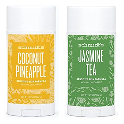Schmidt's Deodorant Stick Variety Pack (Coconut Pineapple & Jasmine Tea)
