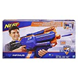 NERF Infinus N-Strike Elite Toy Motorized Blaster with Speed-Load Technology (FFP), Brown